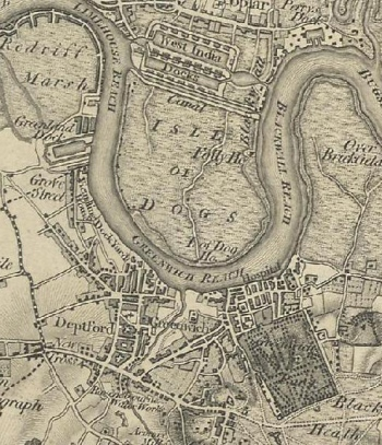 Greenwich map_1805-Ordnance Survey First Series, Sheet 1 - GB Historical GIS_University of Portsmouth