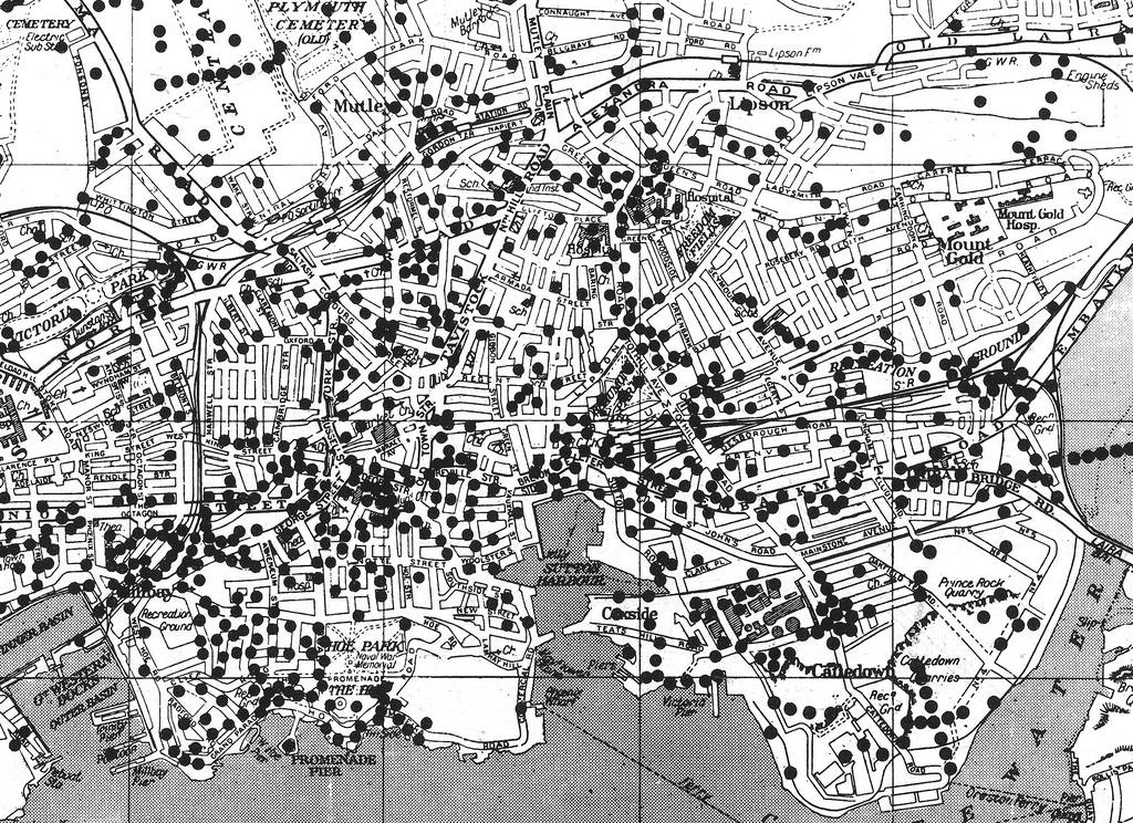 Plymouth_Map of WW2 Bombings_1941