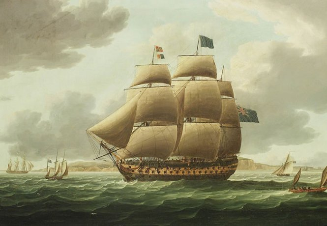 HMS_Ville_de_Paris_painting
