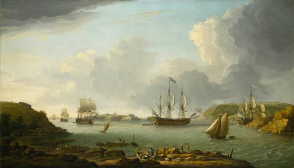 Plymouth_Return of fleet into Plymouth Harbour_D Serres 1766