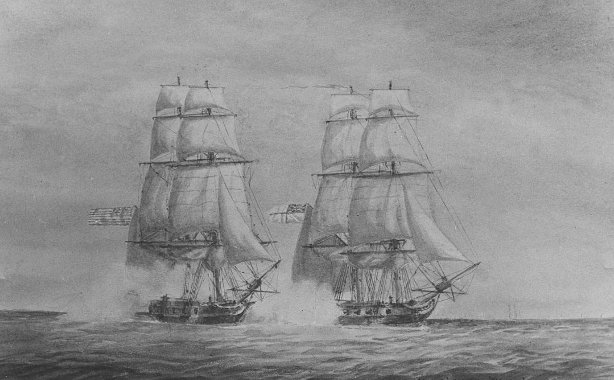 American Privateer PIONEER Taken by HMS SOPHIE_1812a