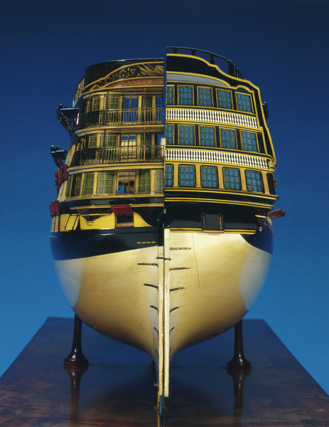 Model of 'Caledonia' (1808), 120 guns, three decker ship of the line
