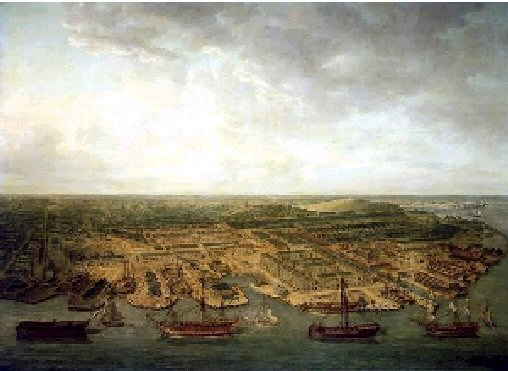 Plymouth Dockyard_Oil painting_Pocock, Nicholas_1798