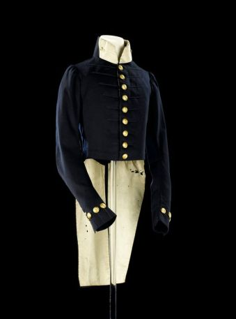 Royal Navy midshipman coat 1780s